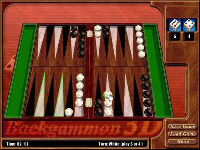 Backgammon Free PC Game Screenshot