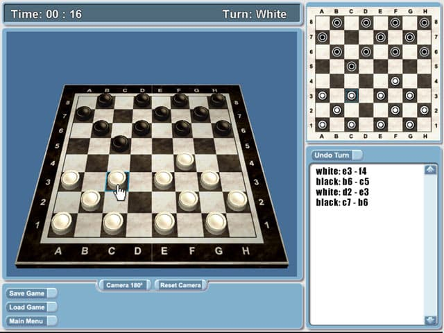 Checkers Free PC Game Screenshot