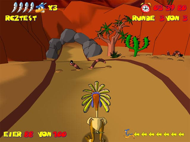Ostrich Runners Free PC Game Screenshot