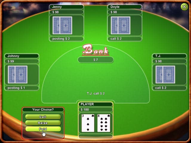 Texas Hold'em Poker Free PC Game Screenshot