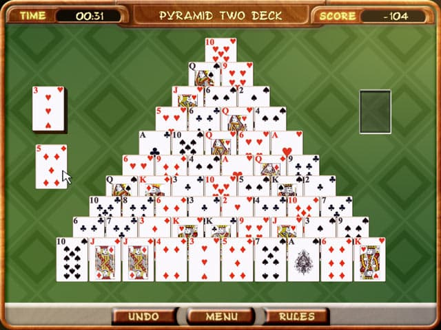 Pyramid Solitaire Free PC Game Screenshot