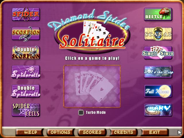 Spider Solitaire Free PC Game Screenshot