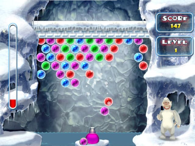 Yeti Bubbles Free PC Game Screenshot