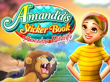 Amanda's Sticker Book: Amazing Wildlife Free Games