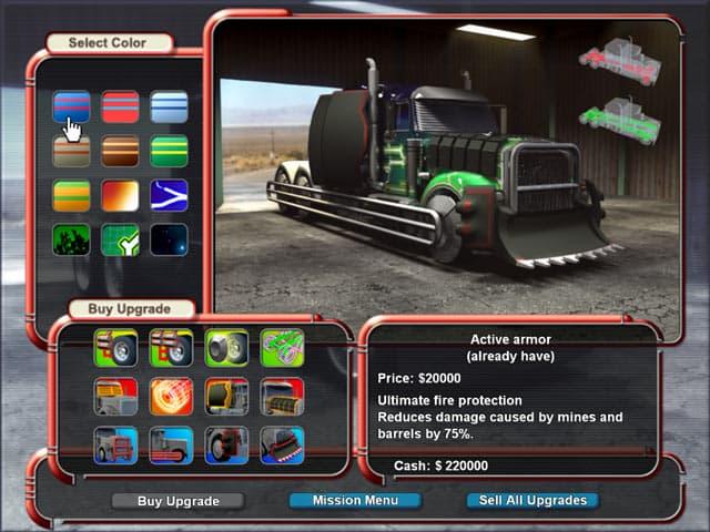 لعبة Mad Truckers لسباق الشاحنات عالية المستوى بحجم 12 MB