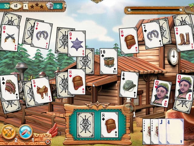 Solitaire Chronicles: Wild Guns Screenshot 1
