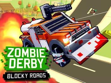 Zombie Derby: Blocky Roads